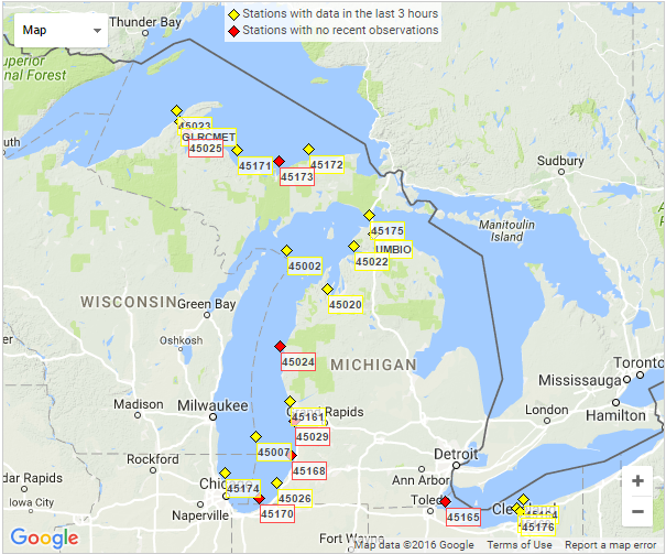 Data Management & Analysis of Great Lakes Time Series