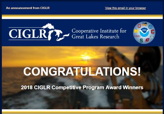 2018 CIGLR Competitive Program Award Winners!