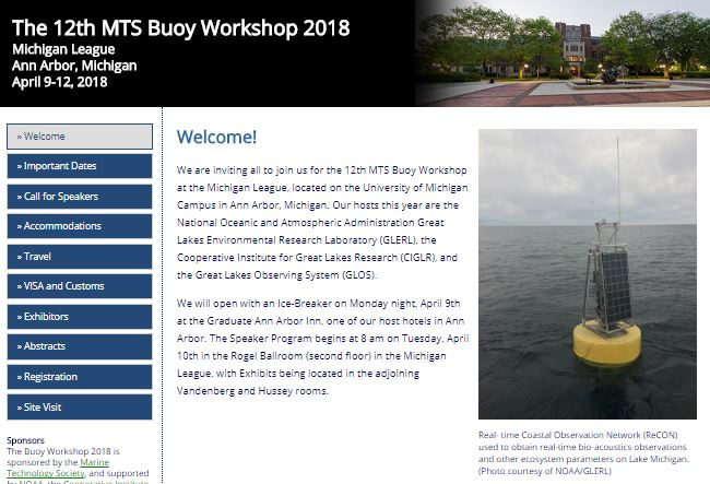 The 12th MTS Buoy Workshop 2018