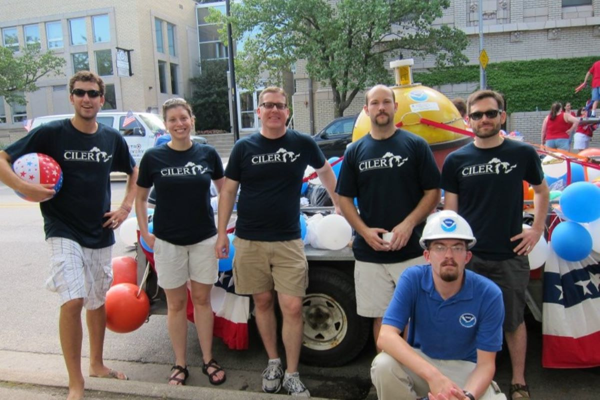 CILER participates in the 2012 Ann Arbor, Michigan Independence Day Parade! Photo Credit: NOAA GLERL.