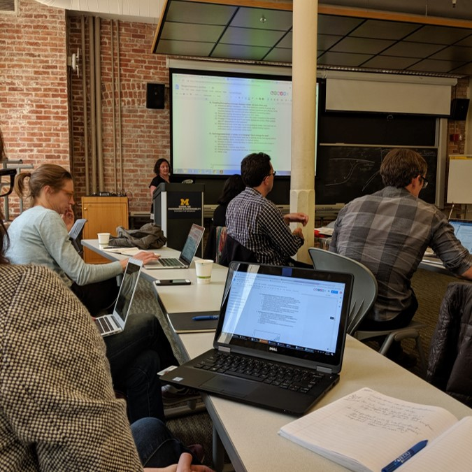 2019 UMD Summit: Winter Limnology on the Great Lakes – Prospects and Research Needs. Photo Credit: Aubrey Lashaway.
