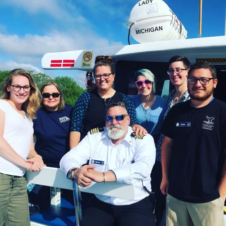 Our NOAA GLERL and CIGLR crew had a great time with Captain Spencer on the #LadyMichigan!