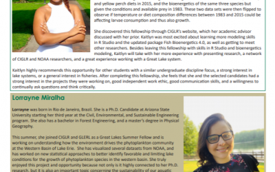 EEO Connections Newsletter Features Great Lakes Summer Fellows!